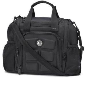 6 Pack Fitness Mini Innovator Meal Prep Bag Black
